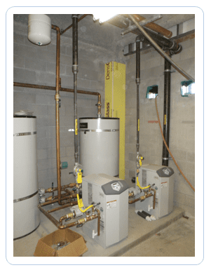 water heater in utility room